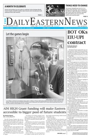 2932893a 2018.09.17 by The Daily Eastern News - issuu