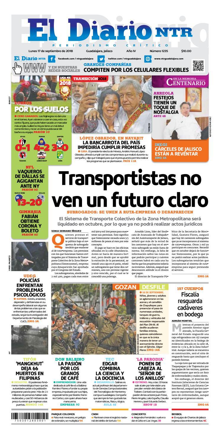 El Diario NTR 1235 by NTR Guadalajara - issuu df9b4a9bc7ab1