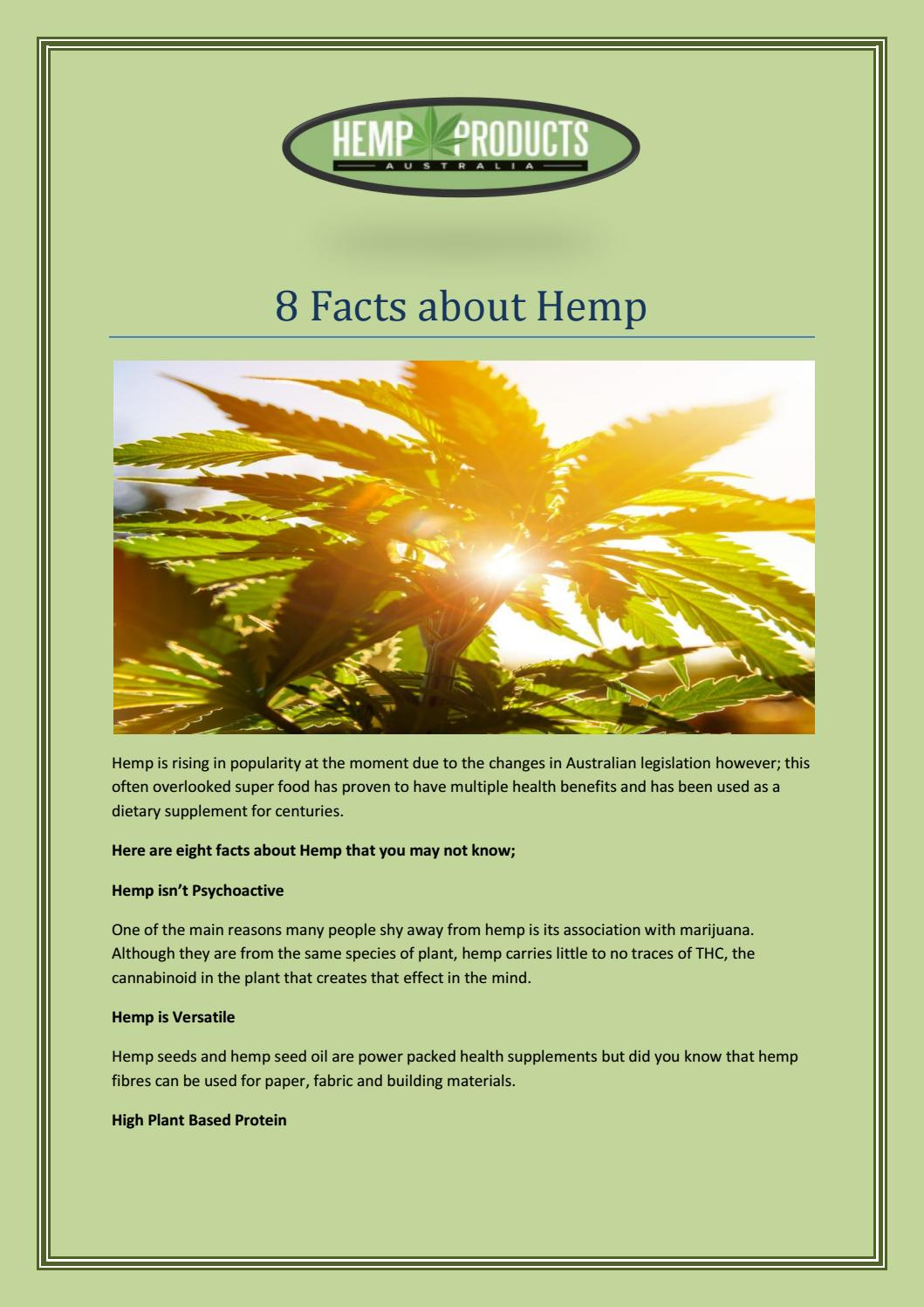 8 Facts About Hemp By Limoraliwesa Issuu