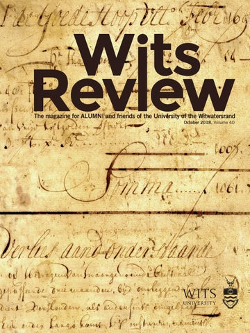 Wits Review October 2018 Vol 40 by Wits Alumni Relations - issuu
