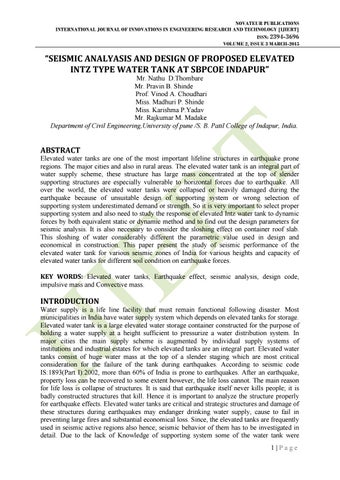 "IJIERT-""SEISMIC ANALYASIS AND DESIGN OF PROPOSED ELEVATED"