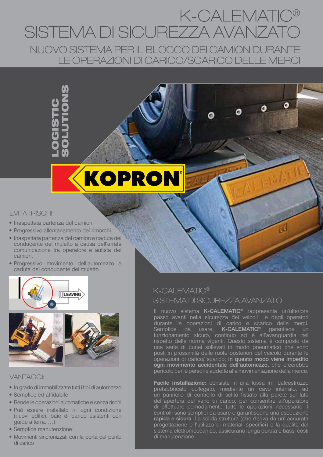 Automazione E Sicurezza Gorgonzola k-calematic - sistemi di sicurezza per banchine di carico by