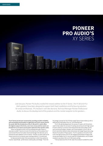 Page 118 of Gear Heads: Pioneer Pro Audio's XY Series