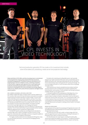 Page 28 of CPL Invests in Video Technology