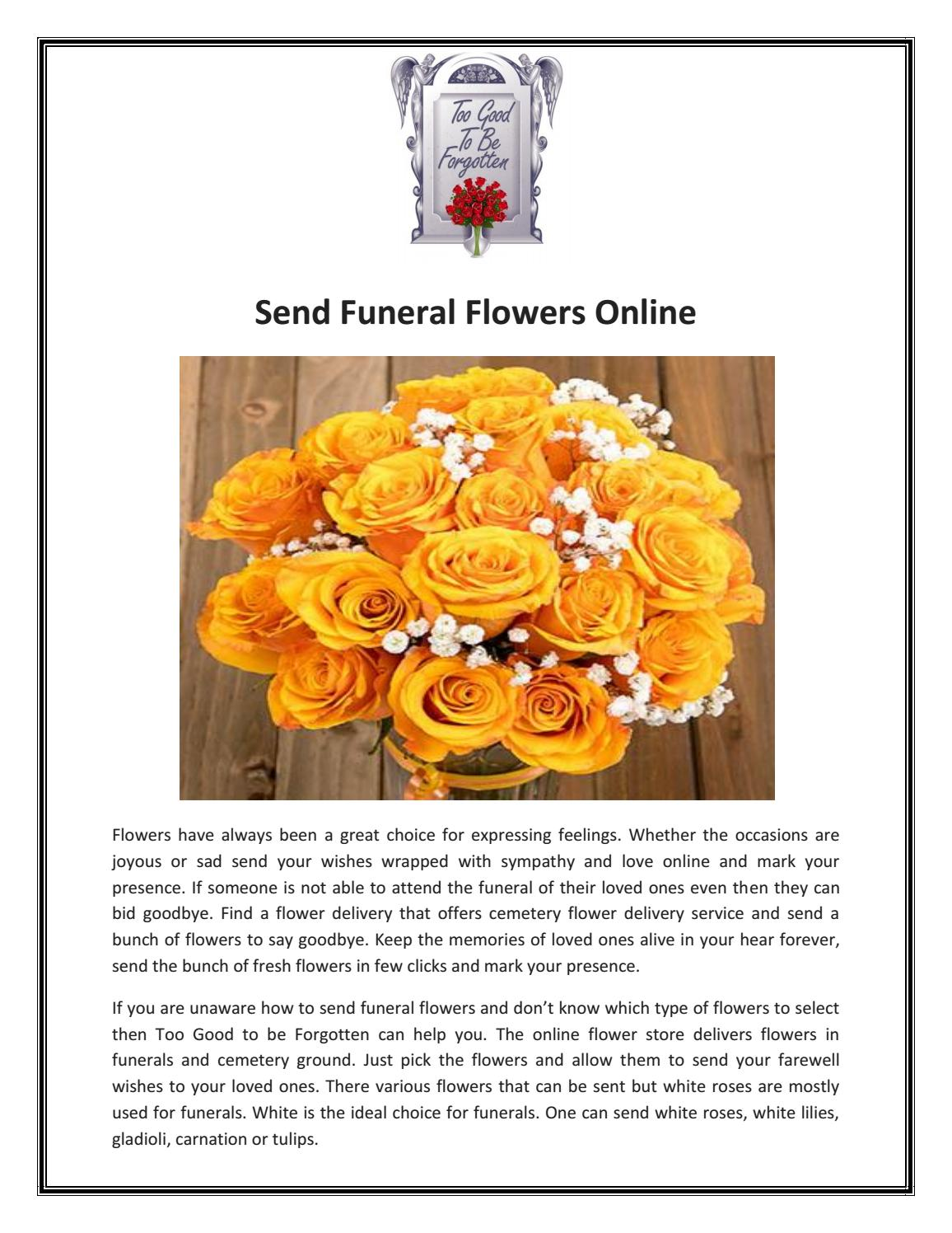 Send funeral flowers online by too good to be forgotten issuu izmirmasajfo