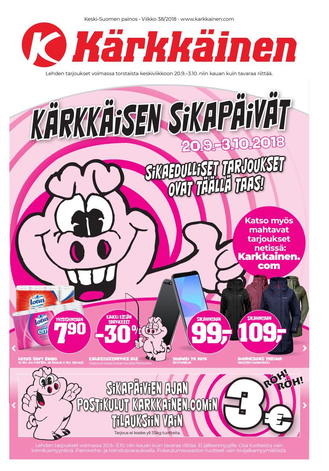 detailed look dca2a 10f1c Kärkkäisen mainos (38 2018) (K-S) by Tavaratalo J. Kärkkäinen Oy - issuu