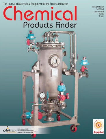 Chemical Products Finder, June-July 2018 by CPF - issuu on