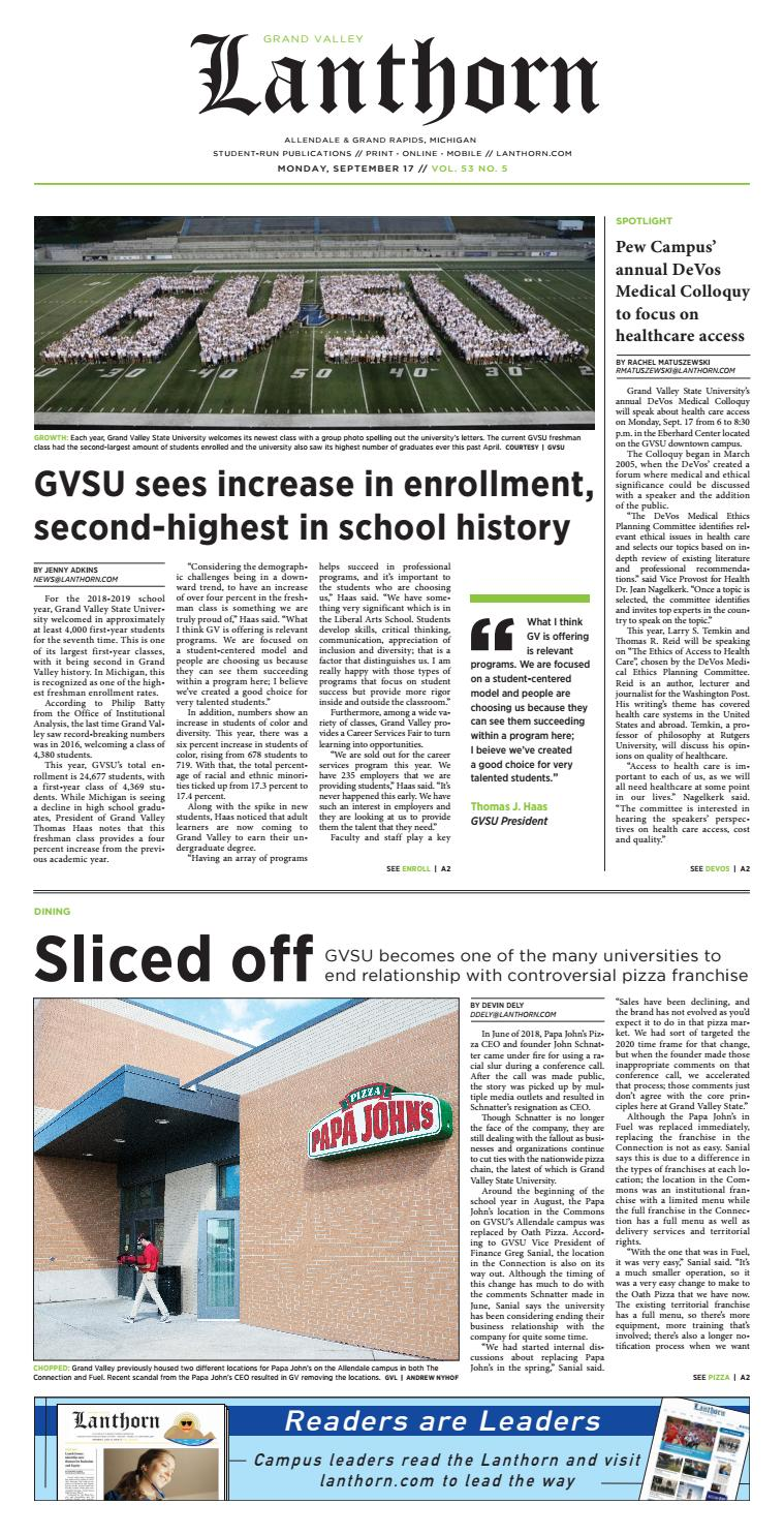 Issue 5, September 17, 2018 - Grand Valley Lanthorn by Grand