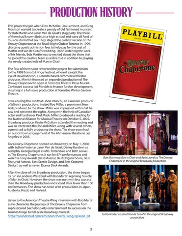 Page 3 of The Drowsy Chaperone Production History