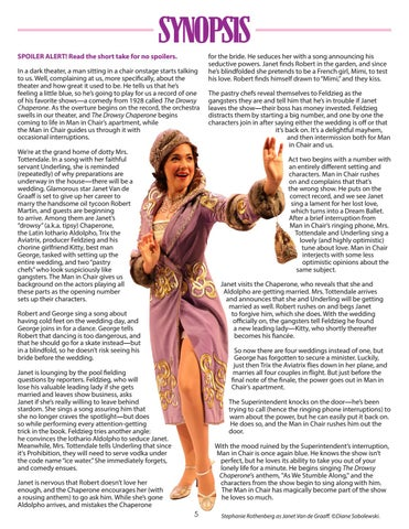 Page 5 of The Drowsy Chaperone Synopsis