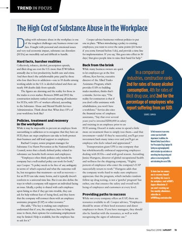 Page 15 of Trends in Focus: Substance Abuse in the Workplace