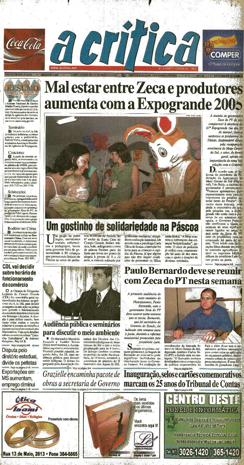 b57b7061ad3ff Jornal A Critica - Edição 1223- 27 03 2005 by JORNAL A CRITICA - issuu
