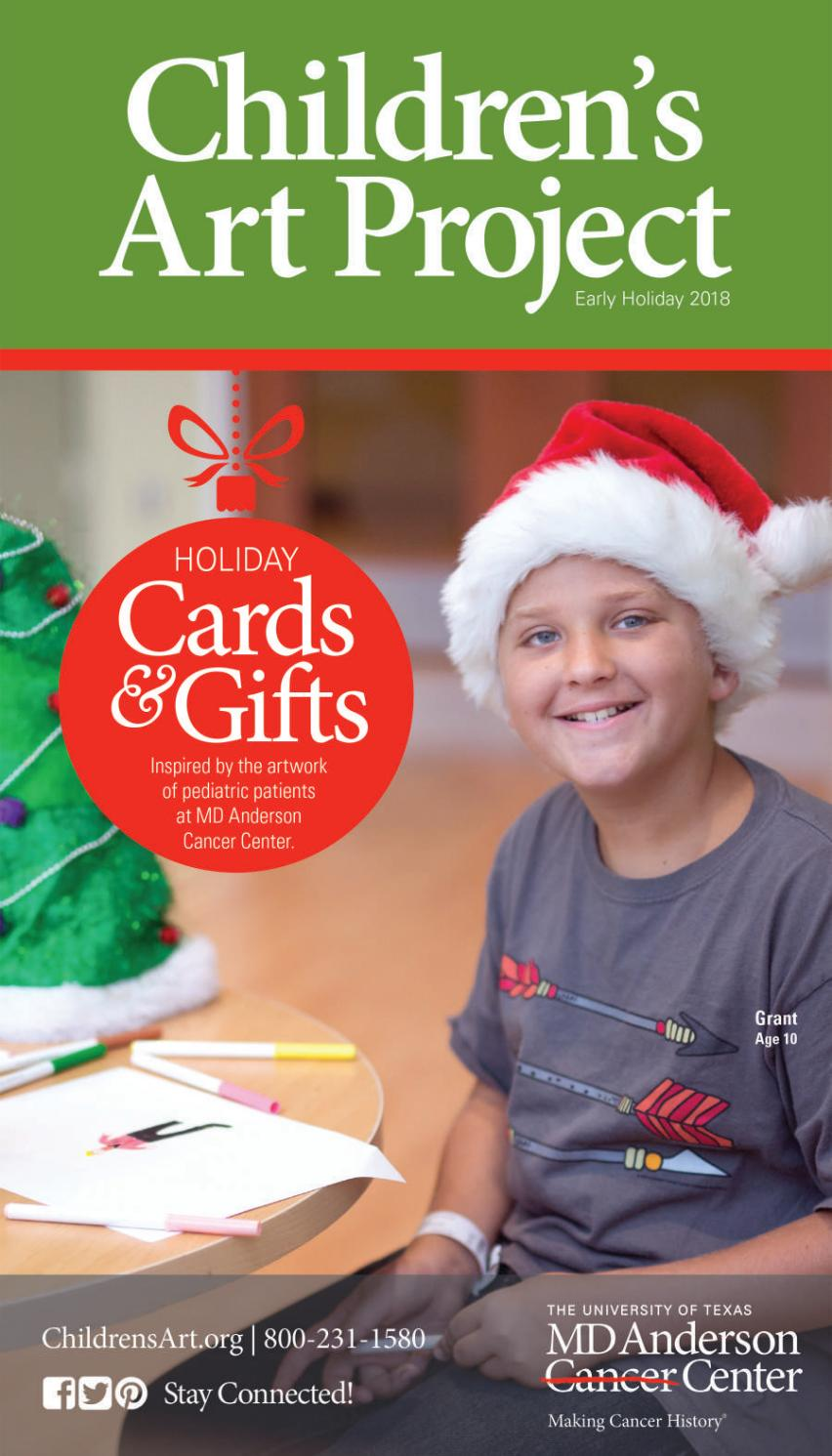 Children\'s Art Project 2018 Holiday Catalog 1 by MD Anderson ...