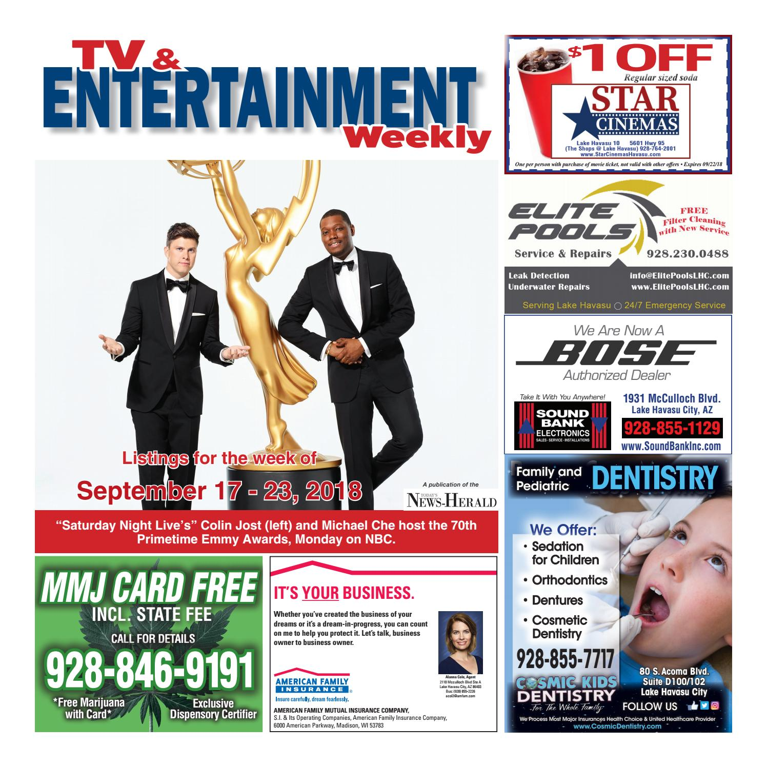 TV Guide Week of 9-17 by Wick Communications - issuu