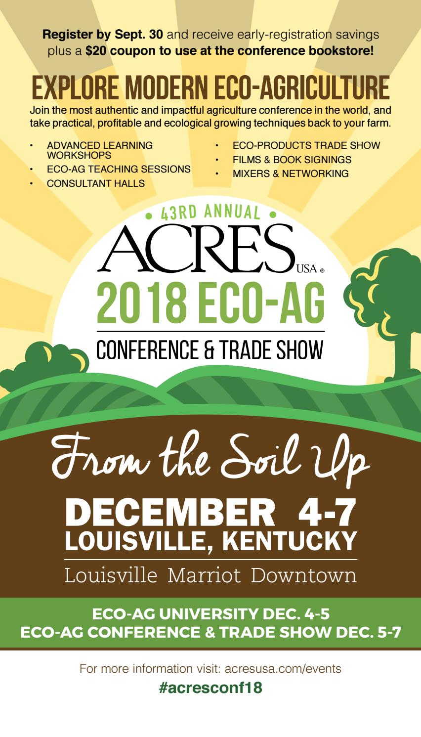 2018 Acres U S A  Eco-Ag Conference & Trade Show Brochure by