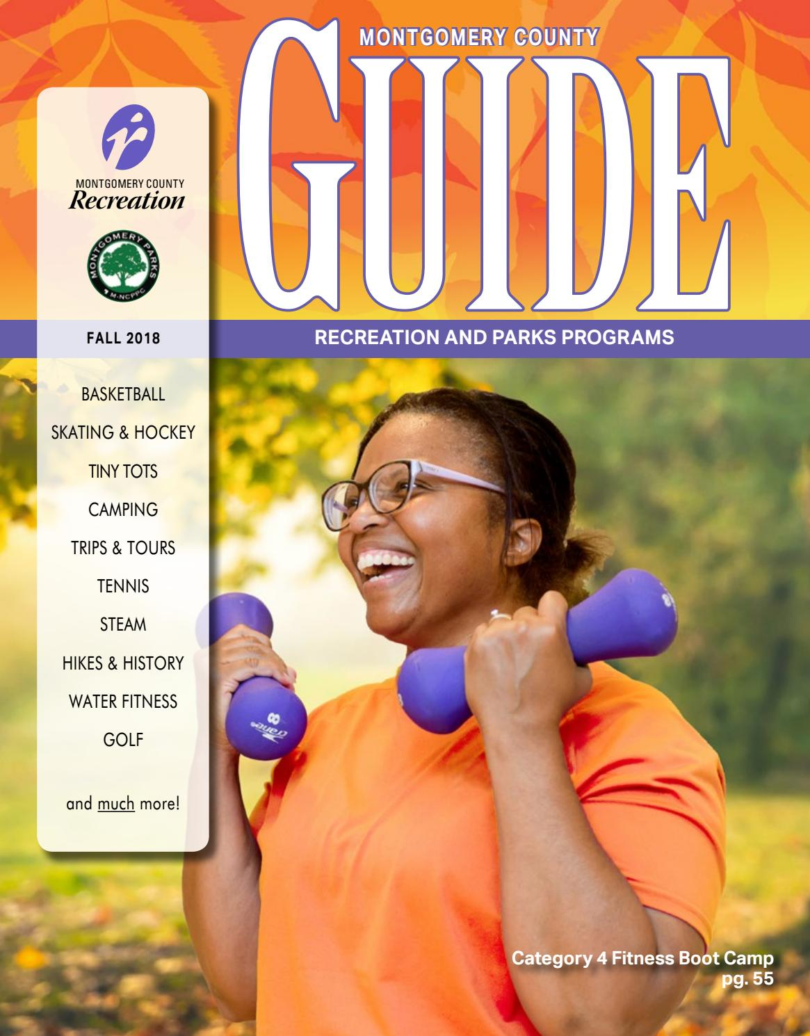 Fall Guide 2018 by Montgomery County Recreation Dept  - issuu