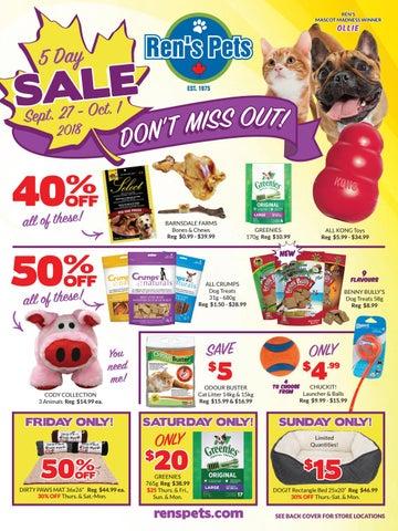Ren S Pets September Retail Sale Flyer By Ren S Pets Depot Issuu