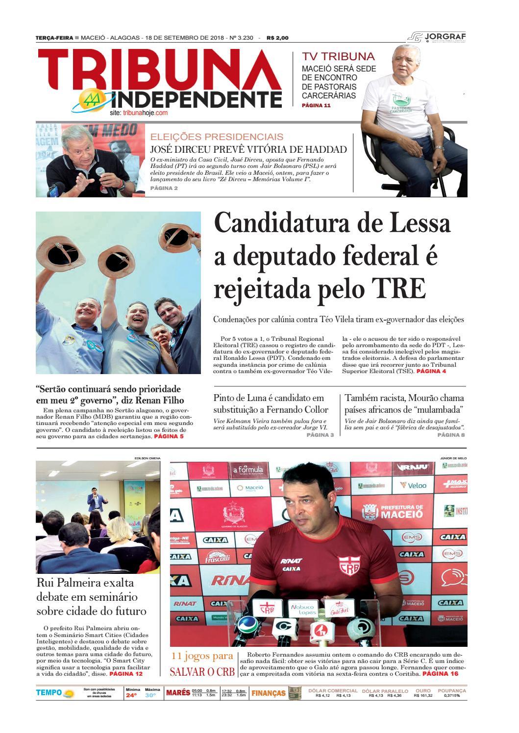 f56a70ebb0ab0 Edição número 3230 - 18 de setembro de 2018 by Tribuna Hoje - issuu