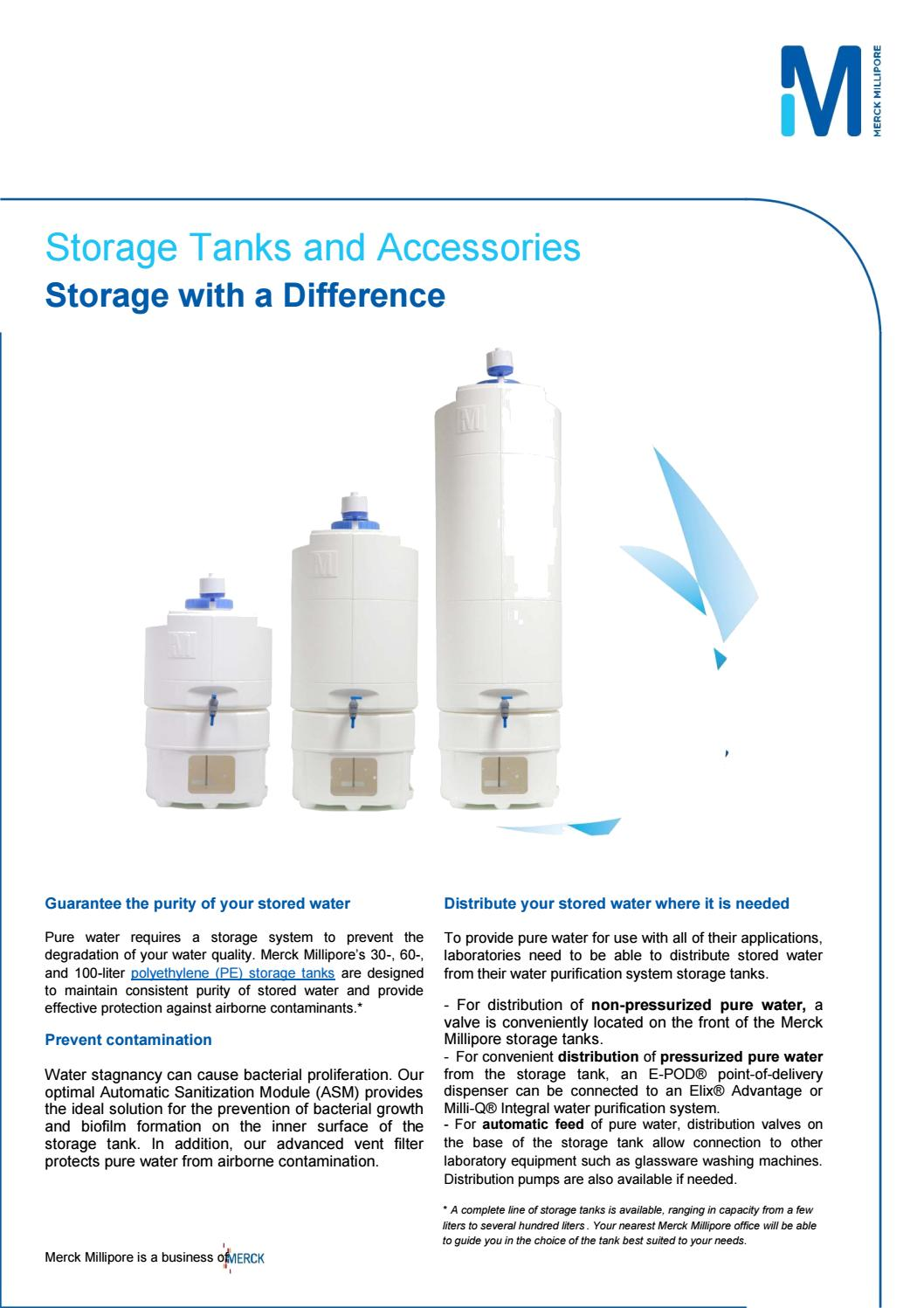 Pure water Storage Tank and accessories | TANKPE060 | 60 Liter