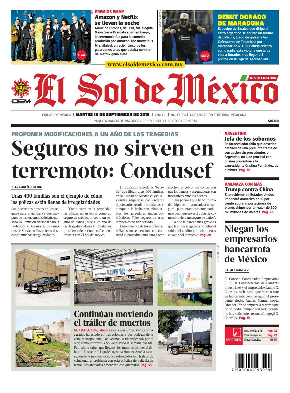 El Sol de México 18 de septiembre 2018 by El Sol de México - issuu 1e470abf15a