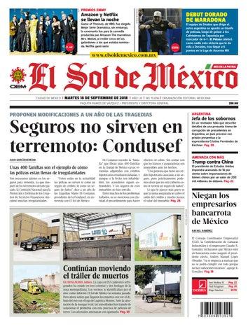 7aef68de8e El Sol de México 18 de septiembre 2018 by El Sol de México - issuu