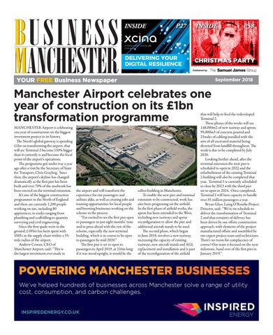 Business Manchester September 2018 by The Samuel James Group