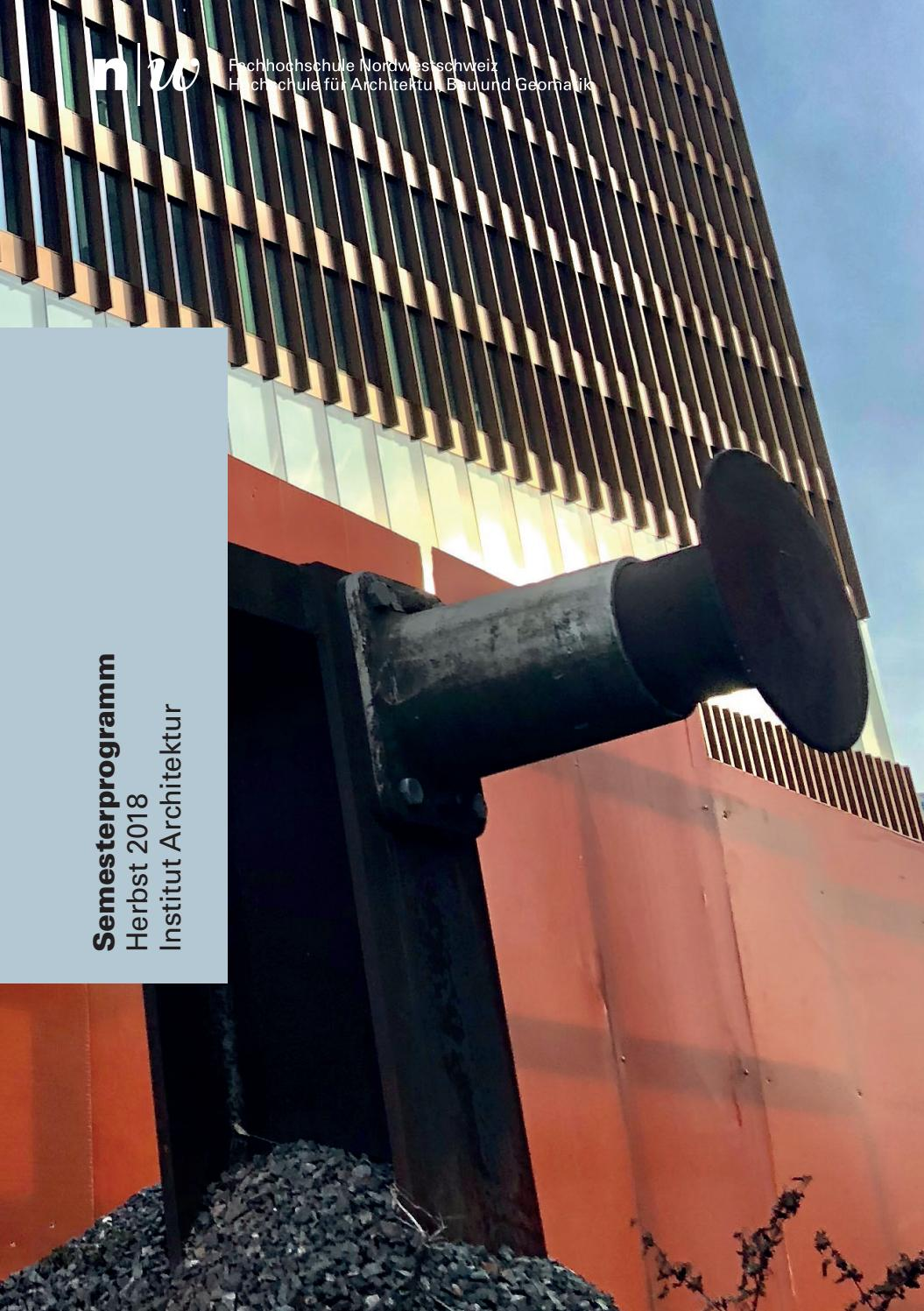 2389993ccfd5d FHNW IArch Semesterprogramm HS18 by Master Architektur - issuu