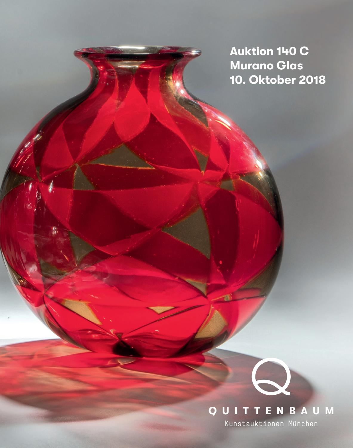 Auction 140 C Murano Glass Quittenbaum Art Auctions By