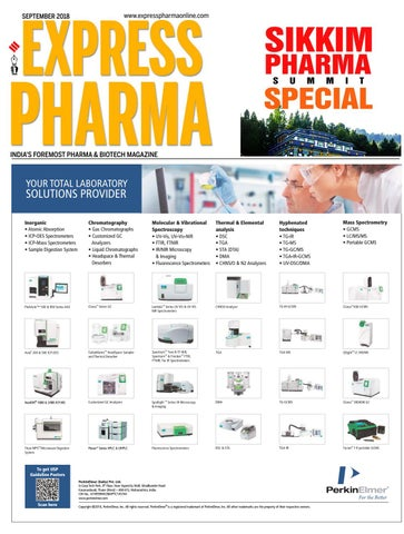 Sikkim Pharma Summit Special - September 2018 by Indian