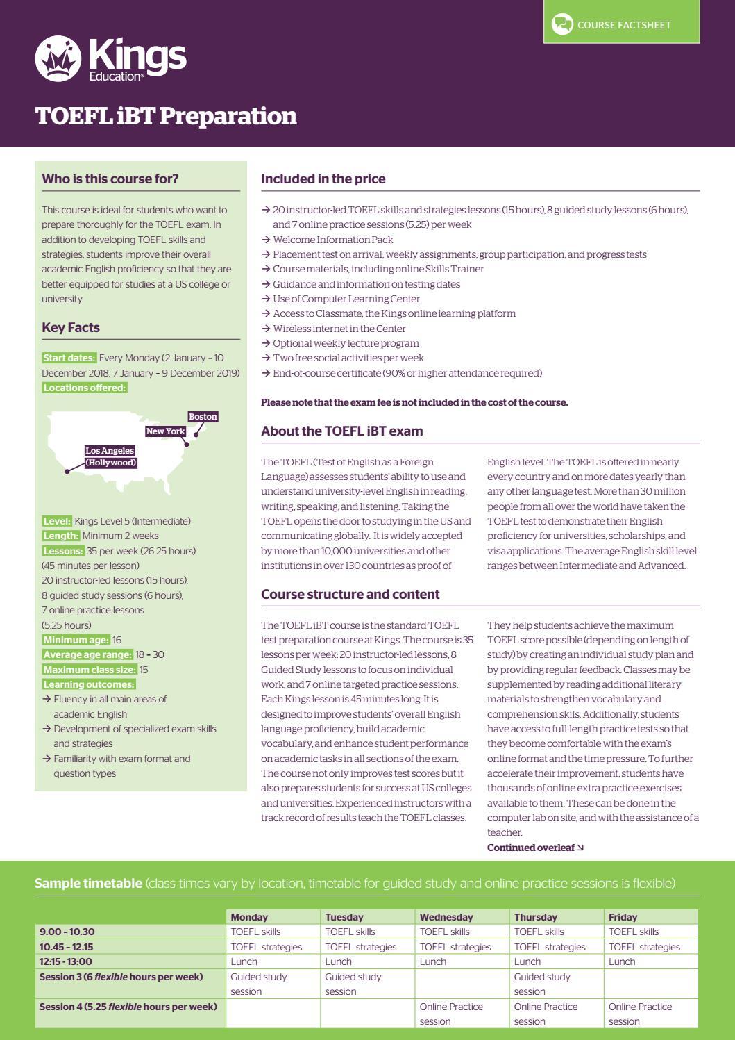 TOEFL iBT Preparation at Kings by Kings Education - issuu