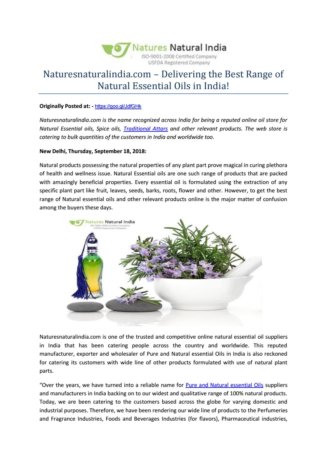 Naturesnaturalindia com – Delivering the Best Range of Natural