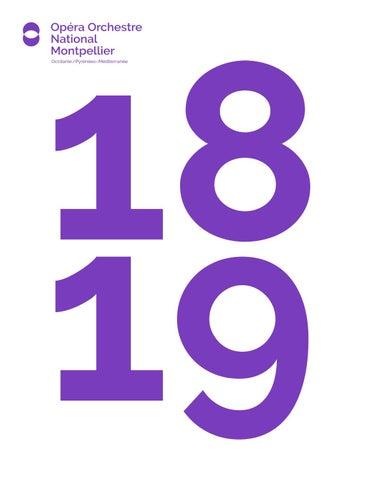 Brochure 18 19 Opera Orchestre National Montpellier Occitanie By