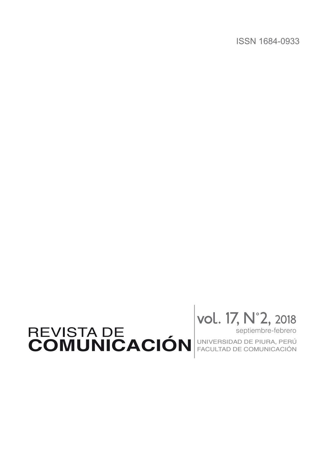 Revista de Comunicación. vol. 17. N°2, 2018 by Revista de ...