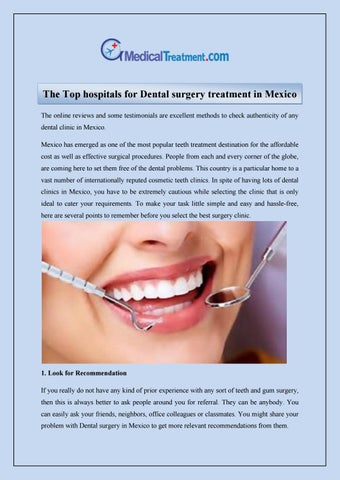 The Top hospitals for Dental surgery treatment in Mexico by Global