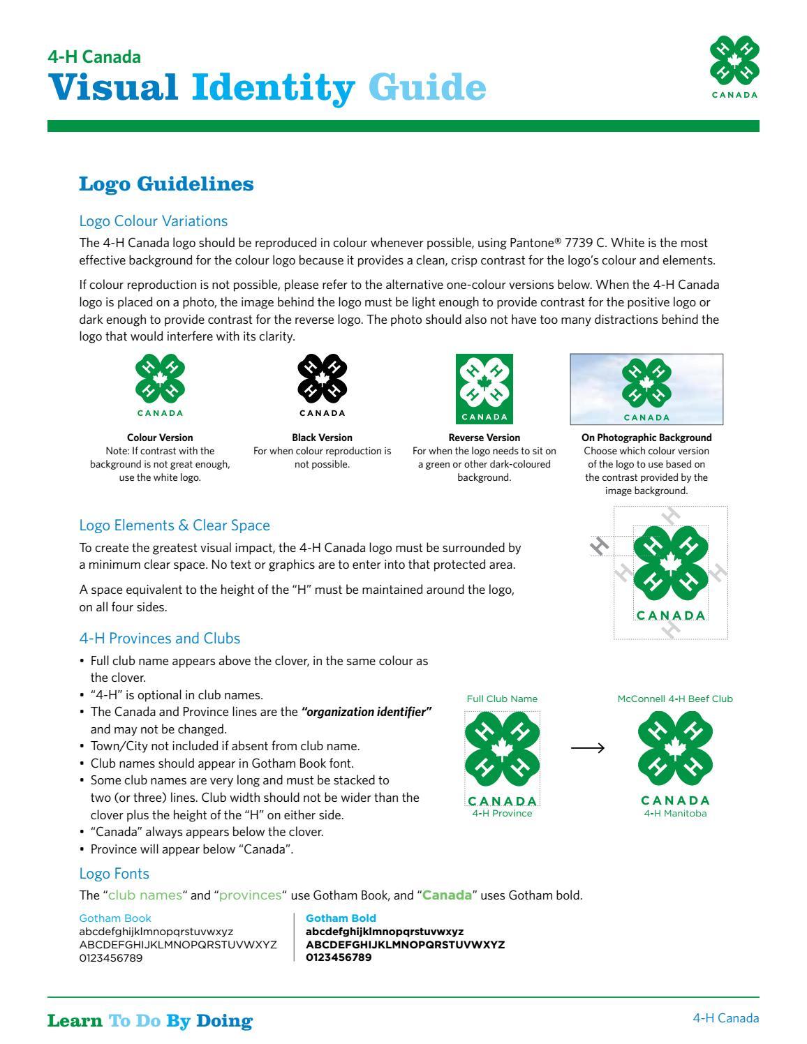 4-H Canada Visual Identity Guide by 4-H Canada - issuu