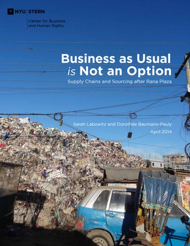 Business As Usual Is Not An Option: Supply Chains and Sourcing After