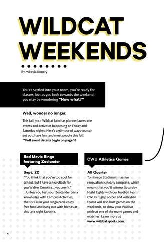 Page 4 of Wildcat Weekends