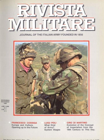 4be8920bf JOURNAL OF ITALIAN ARMY 1986 N.6