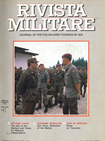 c0bc14cef7 JOURNAL OF ITALIAN ARMY 1987 N.1