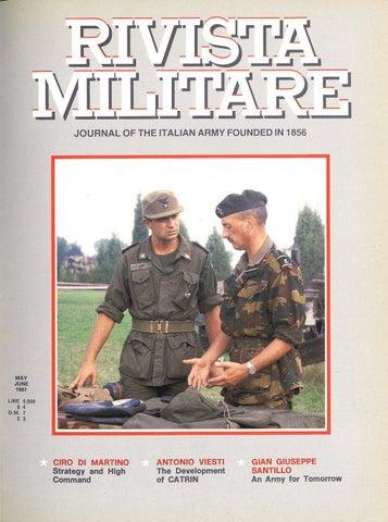 7ce77e023a6 JOURNAL OF ITALIAN ARMY 1987 N.3