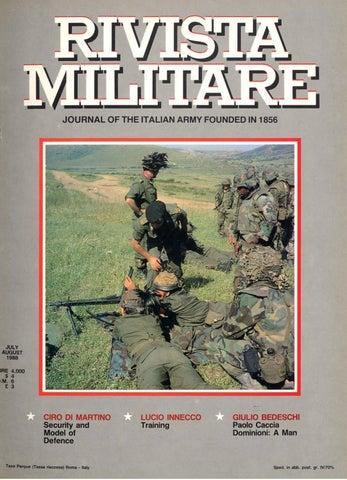 JOURNAL OF ITALIAN ARMY 1990 N.3