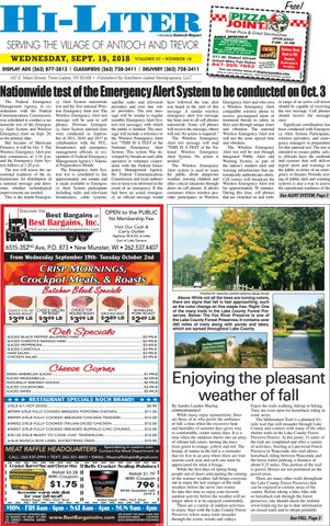 Illinois HiLiter for 9/19/2018 by Southern Lakes Newspapers