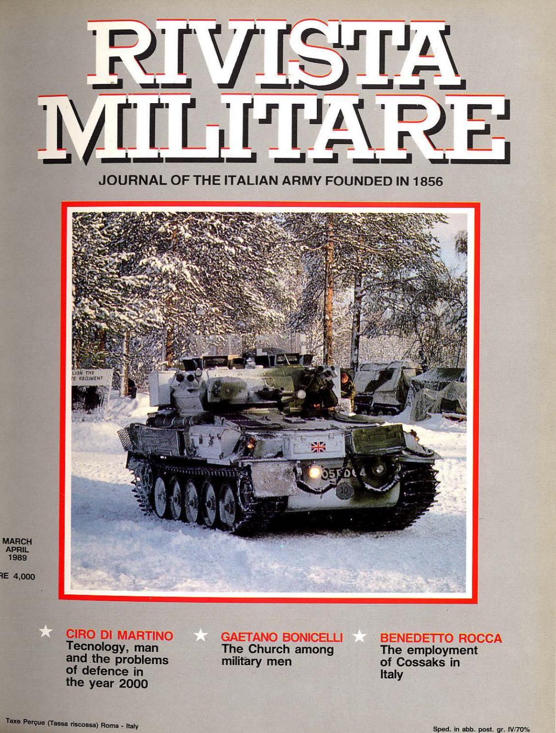 JOURNAL OF ITALIAN ARMY 1989 N 2