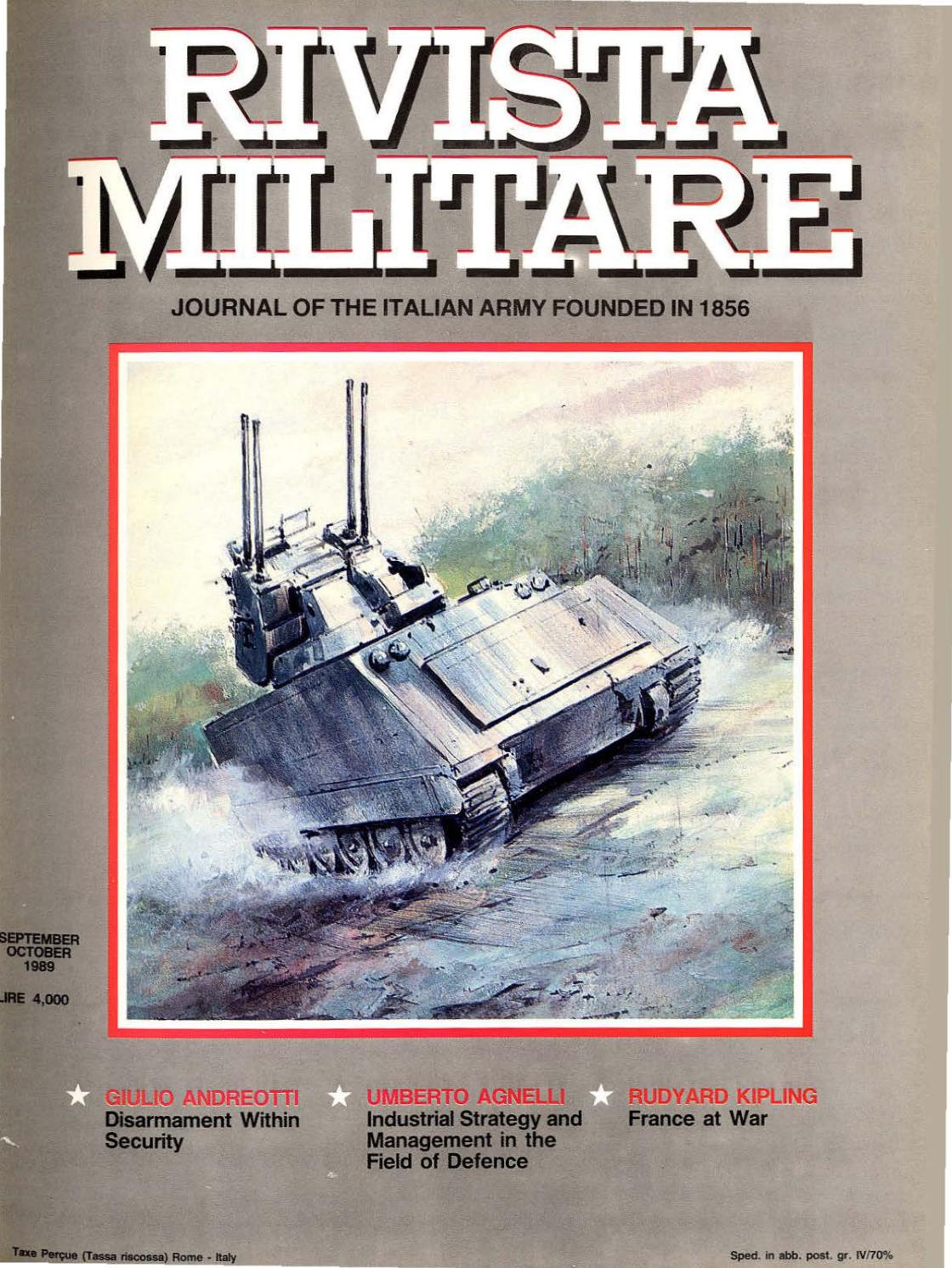 factory authentic ffc2d 43896 JOURNAL OF ITALIAN ARMY 1989 N.5