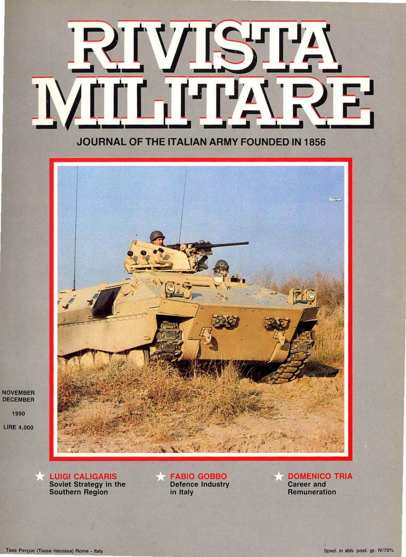 JOURNAL OF ITALIAN ARMY 1990 N 6