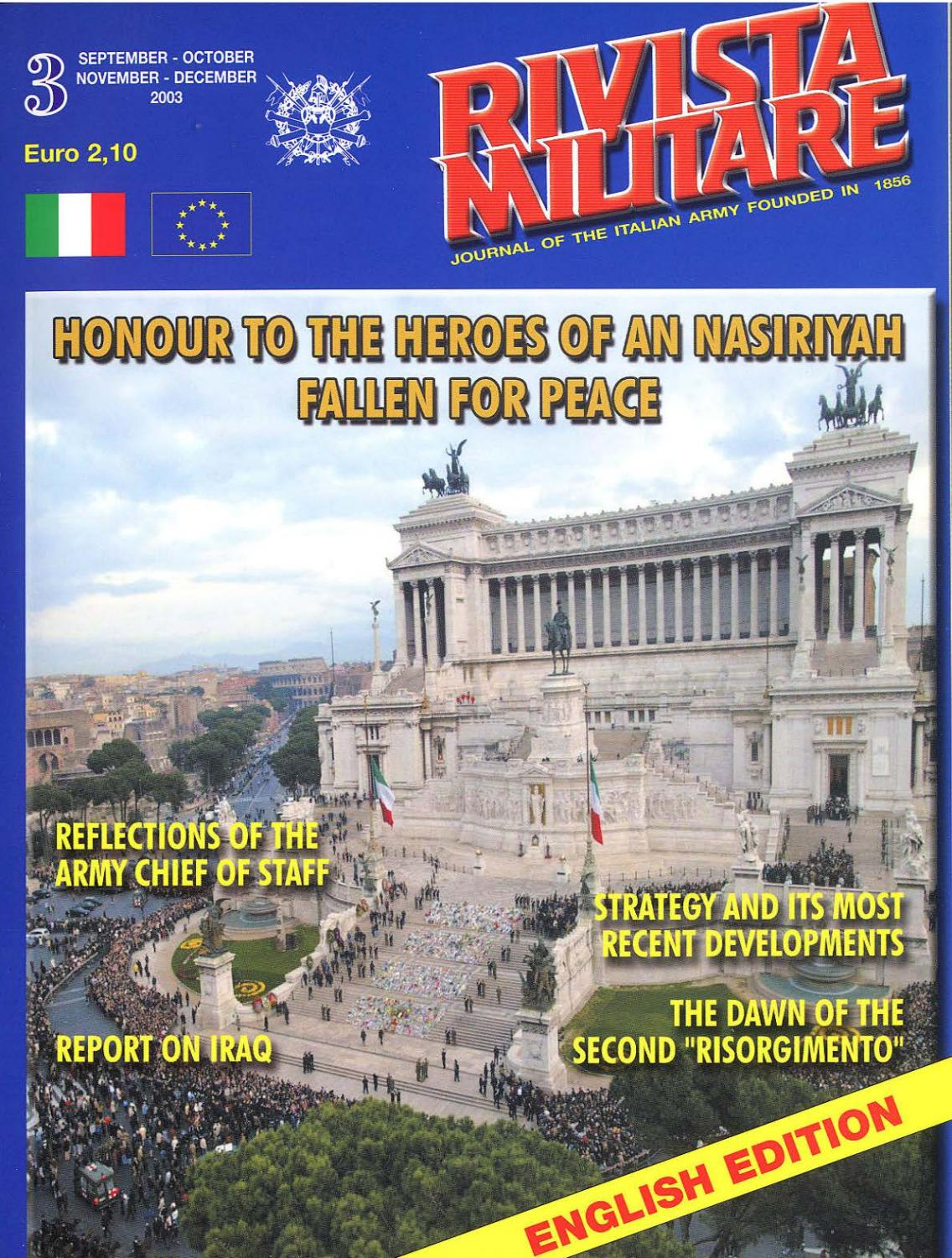 Journal Of Italian Army 2003 N3 Rivista Militare By