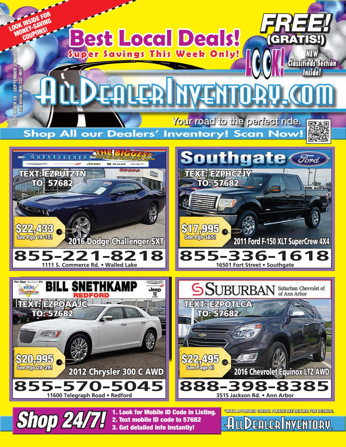 All Dealer Inventory's September 19th Sales Edition! Shop The Best
