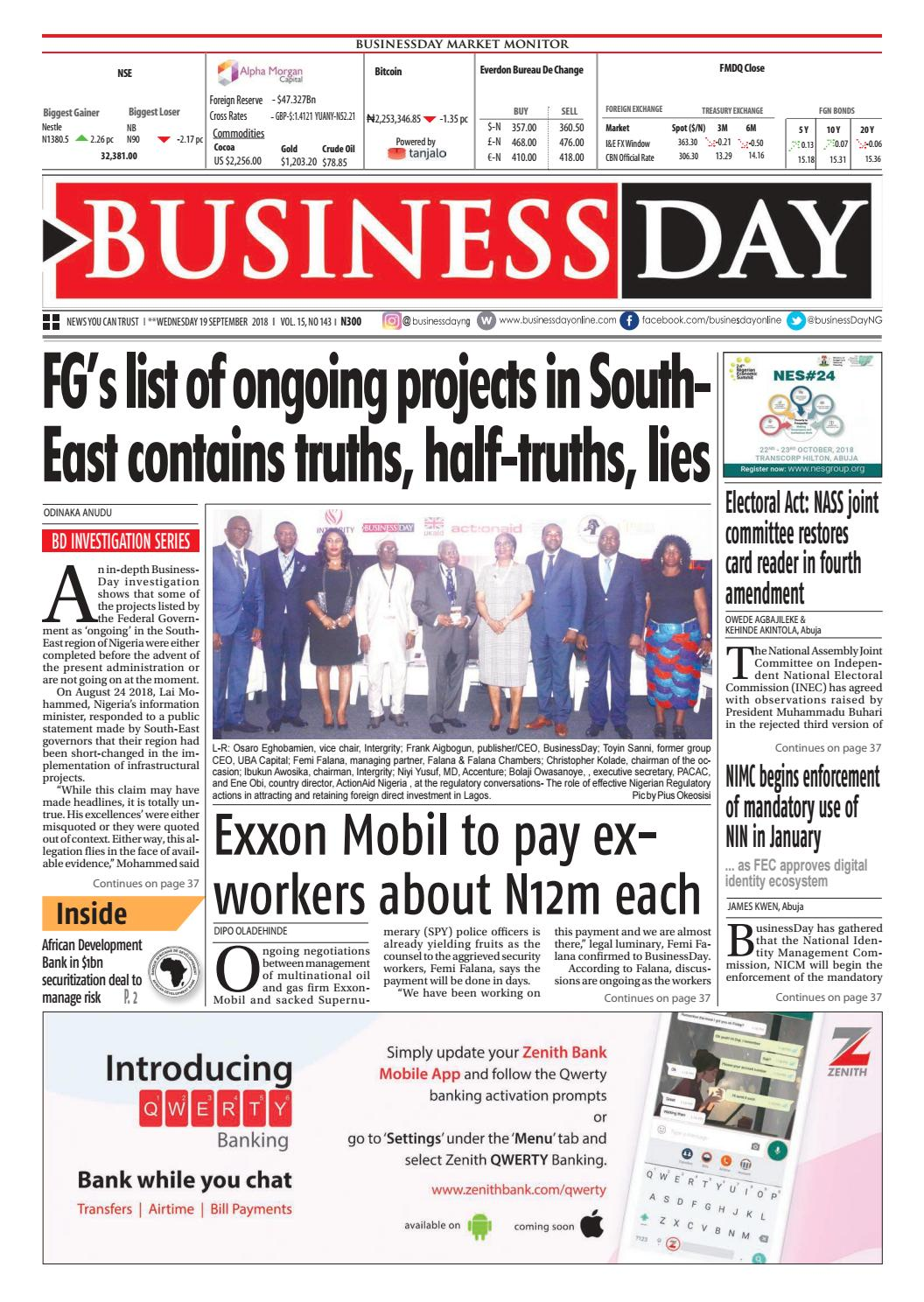 BusinessDay 19 Sep 2018 by BusinessDay - issuu