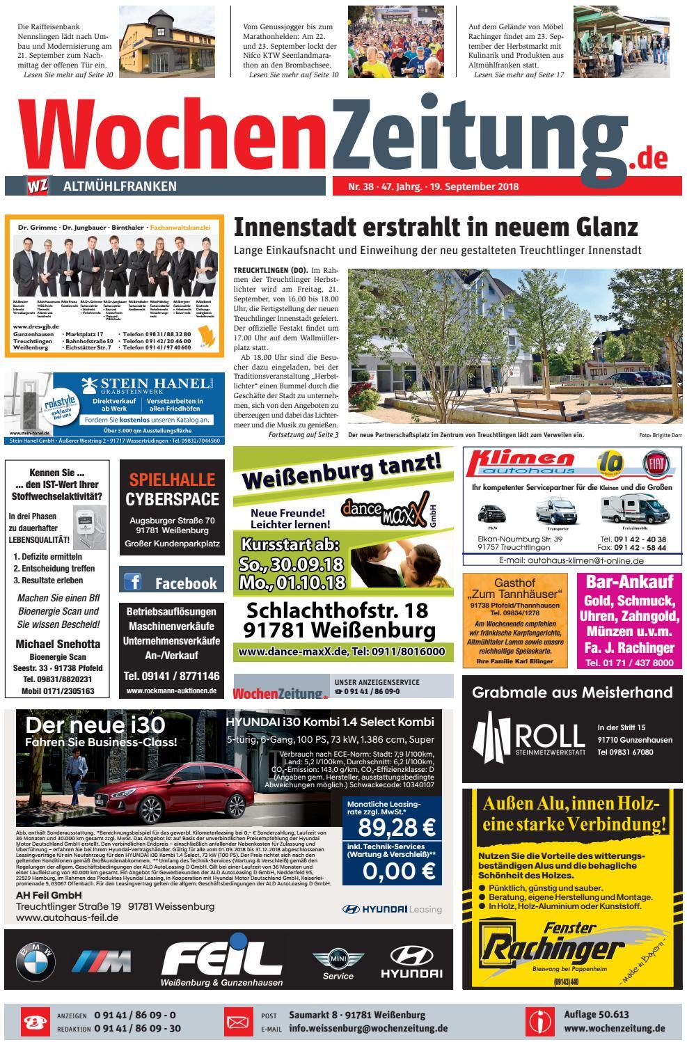 Wochenzeitung Altmuhlfranken Kw 38 18 By Wochenzeitung