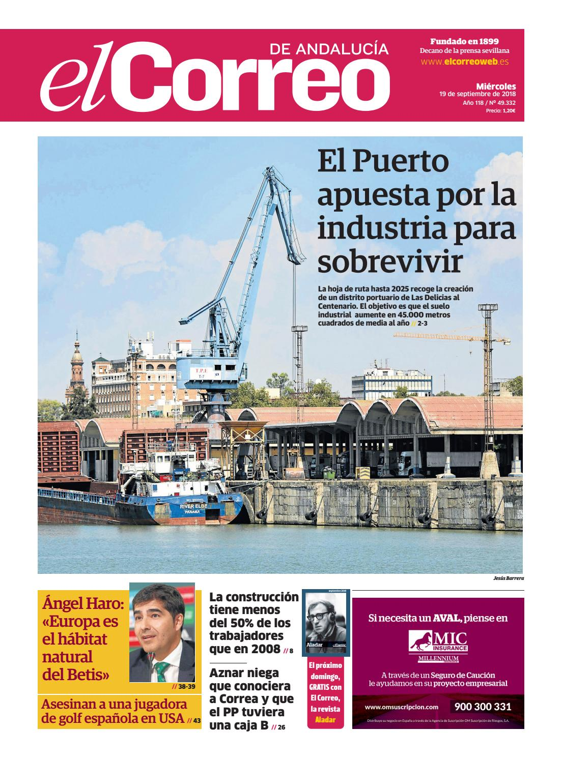 19.09.2018 El Correo de Andalucía by EL CORREO DE ANDALUCÍA S.L. - issuu 30e26351e45
